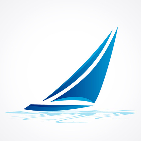Zeilboot vector