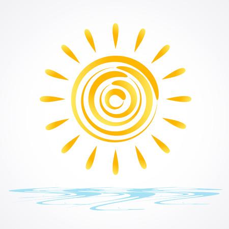 vector sun illustration Vector