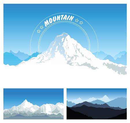 Snowy mountains Vector