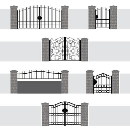 rejas de hierro: Puerta de la entrada de la puerta de la cerca del jardín