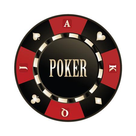 cartas de poker: Casino, diseño Poker chips vector