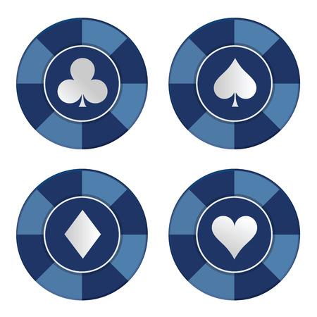 jetons poker: jetons de poker. Vector illustration