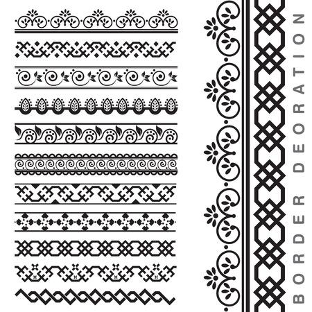 inlay: Vector Seamless Decorative Borders