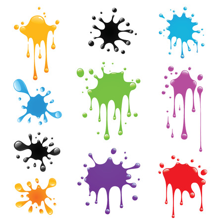 Set van verf splash Vector Illustratie