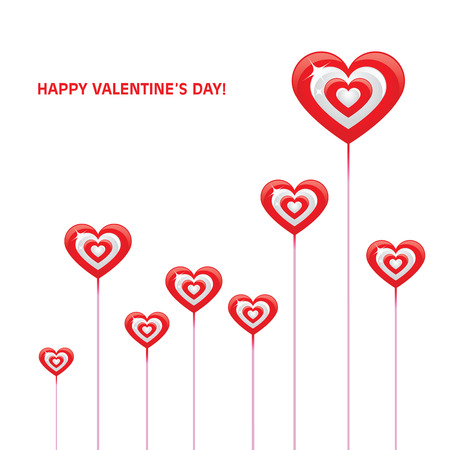 tagging: valentines day card vector
