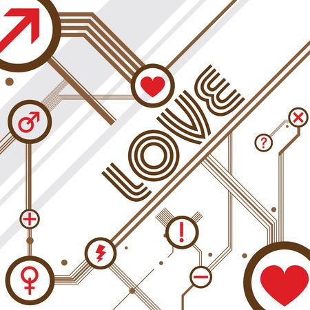 timelines: love design vector Illustration