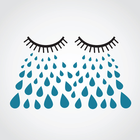 ojos tristes: llorar. vector Vectores