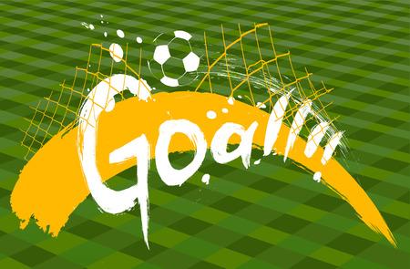 soccer background: soccer design over green background vector illustration