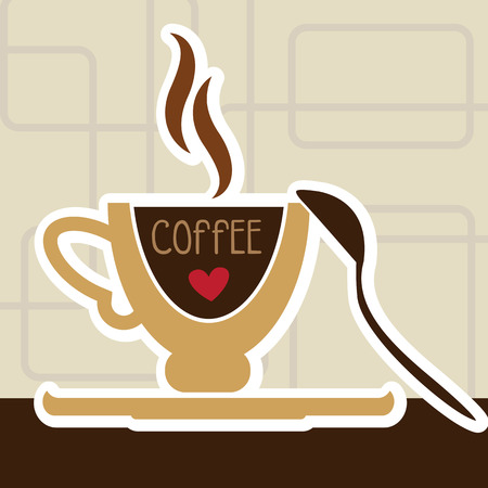 vector art: illustration of isolated a cup of coffee