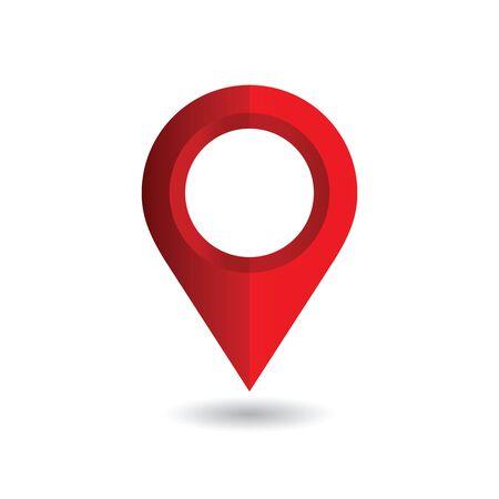 Map pin, location pointer. Vector illustration