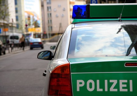The back of a German police car. Stock Photo - 4415909