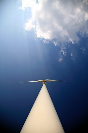 turbin: A modern wind turbin creating green energy