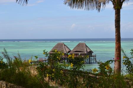 bungalow: bungalow on the ocean Stock Photo