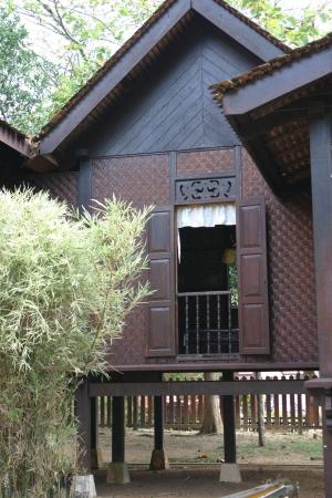 malay village: Tradicional pueblo Hut  Editorial