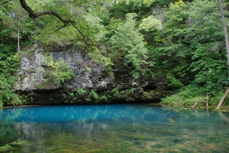 watershed: Blue Spring on the Current River in Missouri in June