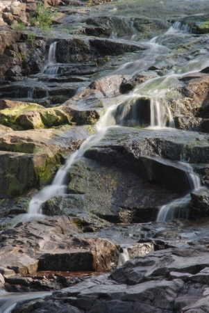 watershed: Part of the waterfall at Rocky Falls in Missouri