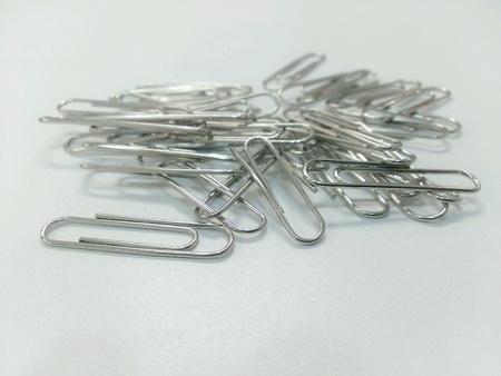 silver: Wire paper clip Stock Photo