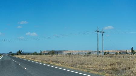 Sovraccarico da miniere di carbone a cielo aperto nel Queensland centrale Australia