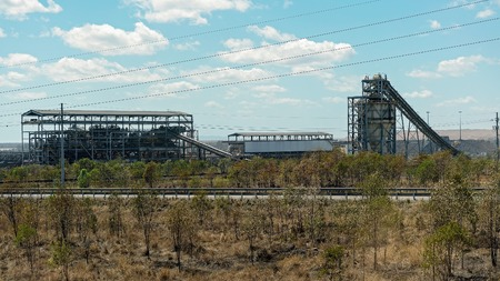 Plant infrastructure to service open cut mining in central Queensland Australia