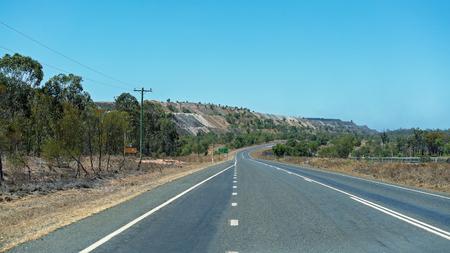 Overburden from open cut coal mining in central Queensland Australia