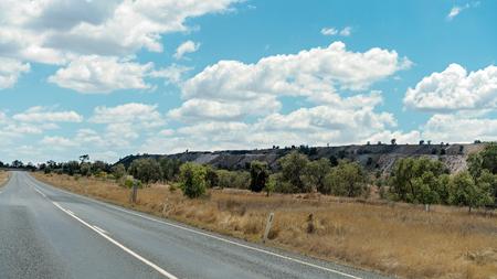 Overburden from open cut coal mining in central Queensland Australia Archivio Fotografico