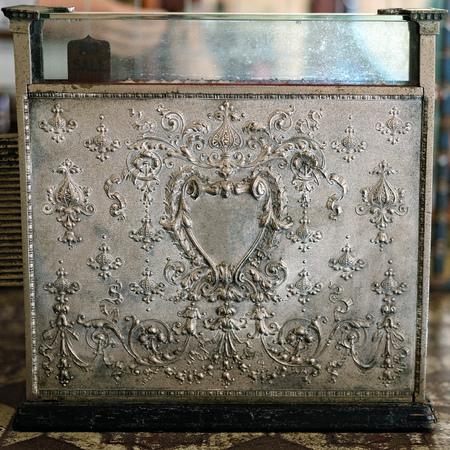 Beautiful old vintage embossed cash register Banco de Imagens