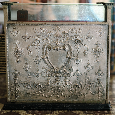 Beautiful old vintage embossed cash register Imagens