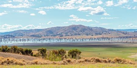 Road Trip - Hume Dam, a major dam across the Murray River New South Wales Australia
