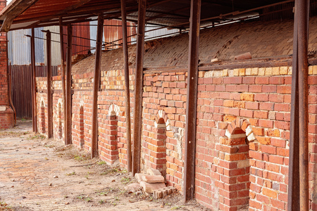 Old disused brick pottery kilns once used to fire clay to make household utensils