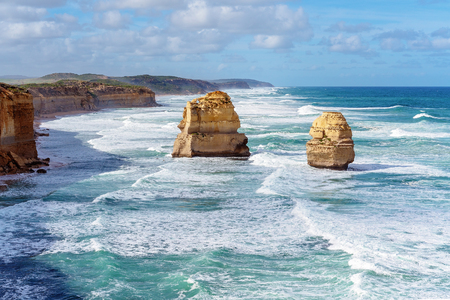 Part of The Twelve Apostles on The Great Ocean Road in Victoria Australia - Famous landmark