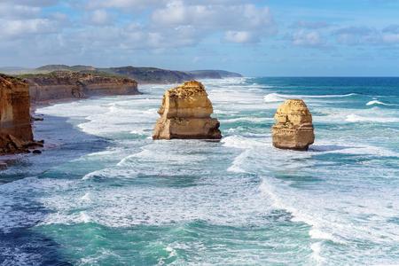 Teil der Zwölf Apostel an der Great Ocean Road in Victoria Australia - Wahrzeichen -