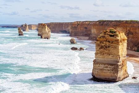 The Twelve Apostles on The Great Ocean Road in Victoria Australia - Famous landmark Фото со стока