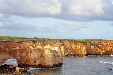 Australia's beautiful Victorian Great Ocean Road coastline, a well-known tourist destination
