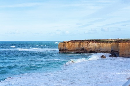 The well-known coastline of remarkable rock formations on The Great Ocean Road Victoria Australia Фото со стока