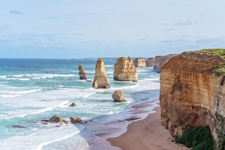 The famous Twelve Apostles on The Great Ocean Road in Victoria, Australia