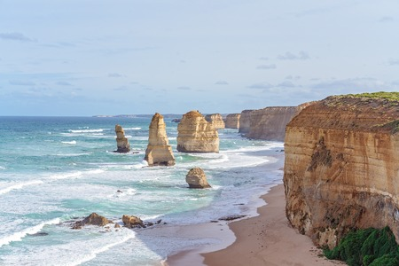The Twelve Apostles, a famed landmark along The Great Ocean Road in Victoria Australia