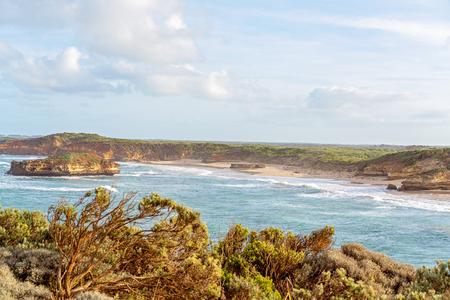 The limestone rock formations on the scenic coastline of Australia's Great Ocean Road - Famous landmarks