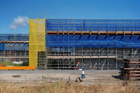 An overpass being construction as part of a bypass route to avoid heavy traffic into populated areas in an Australian country town 写真素材