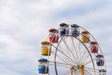 MACKAY, QUEENSLAND, AUSTRALIA - JUNE 16TH 2019: Ferris wheel ride at Pioneer Valley Country Show Editorial