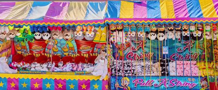 MACKAY, QUEENSLAND, AUSTRALIA - JUNE 2019: Games of chance to win a prize on sideshow alley at Mackay Annual Show