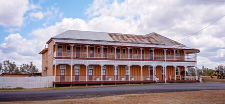 Warra, Queensland, Australia - October 2019: The interesting old historic Warra Hotel Editorial