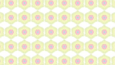 Repeating seamless pattern surface design illustration of soft yellow and pink shapes on a white background for wallpaper, textile and wrapping paper Zdjęcie Seryjne
