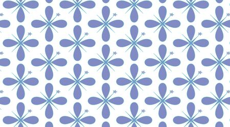 Repeating seamless pattern surface design illustration of blue shapes on a white background for wallpaper, textile and wrapping paper