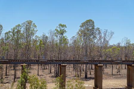 Railway line running through dry country badly in need of rain - Australia