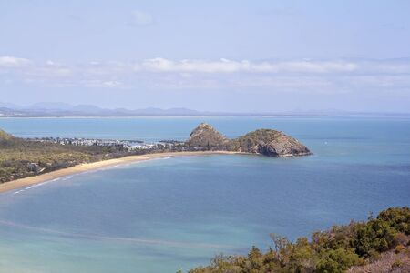 View out to Coral Sea from Bluff Point on the Capricorn Coast of Australia