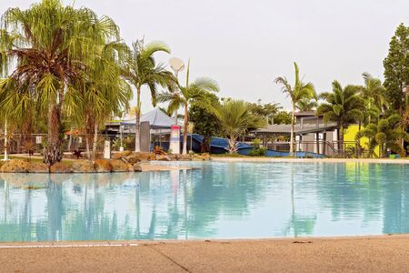 A public water park and pool for recreation provided by the local council