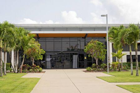 Entrance to a public office building