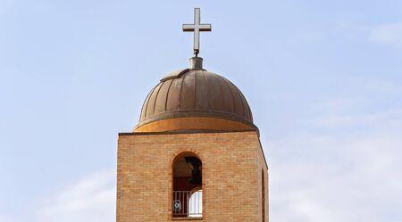 Bell tower of a church against blue sky Reklamní fotografie