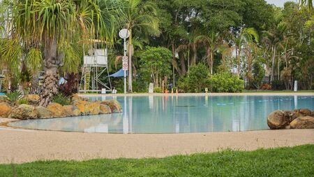 A public pool and lagoon recreational area provided by the local council Reklamní fotografie