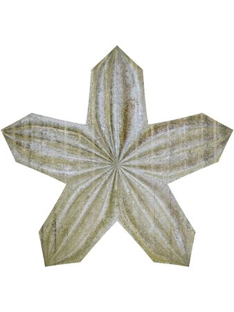 Four leaf clover shape illustrated from antique metal
